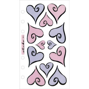 Hearts of Love Vellum Stickers _SPVM51