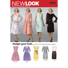 New Look Pattern 6824 Misses Dresses