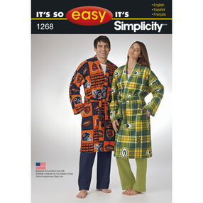 It's So Easy Misses', Men's and Teen's Robe