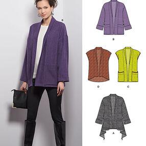 Misses' Jacket and Vest