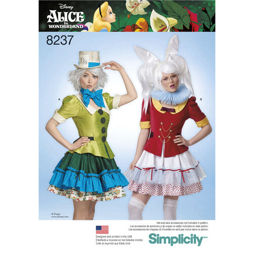 simplicity pattern 8237 misses 39 alice in wonderland. Black Bedroom Furniture Sets. Home Design Ideas