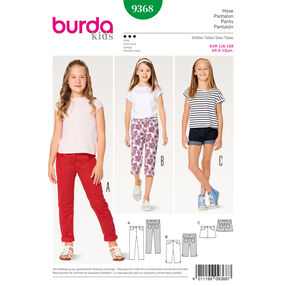 Burda Style Pattern B9368 Girl/Girl Plus Pants