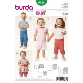 Burda Style Pattern 9386 Toddlers' Pants