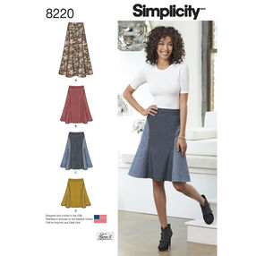 Simplicity Pattern 8220 Misses' Easy-to-Sew Skirt in Three Lengths