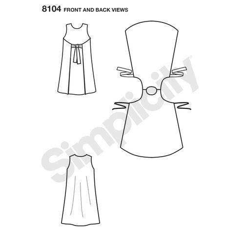 Pattern 8104 Child's and Girls' Jiffy® Reversible Wrap Dress