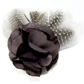 Multi Feather Leaf Pin & Clip Flower_56-63060