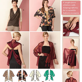 Kimono Jacket & Wrap Size XS-XXL