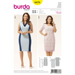 Burda Style Pattern 6676 Women's Dress