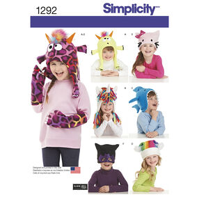 Simplicity Pattern 1292 Child's Hat and Mittens in Three Sizes