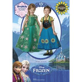 Simplicity Pattern 1097 Disney Frozen Fever Costumes for Children