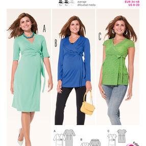 Burda Style Pattern 6957 Maternity Wear