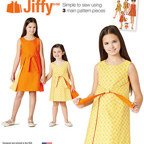 Pattern 8104 Child's and Girls' Jiffy® Reversible Wrap Dress