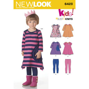 New Look Pattern 6423 Toddlers' Knit Dresses and Leggings