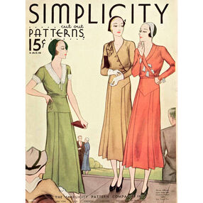 Simplicity Poster Vintage 1920s