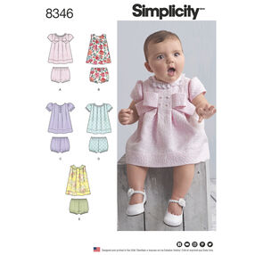 Simplicity Pattern 8346 Babies' Dress and Panties