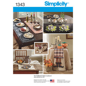 Simplicity Pattern 1343 Autumn Table Accessories