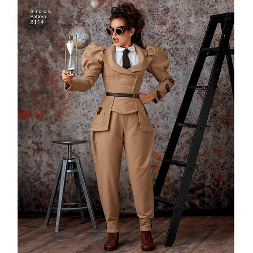 pattern 8114 misses steampunk costumes