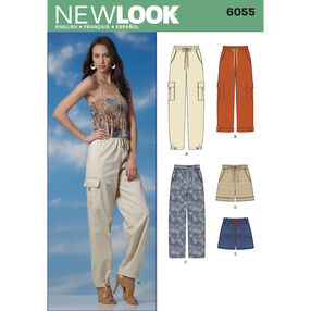 New Look Pattern 6055 Misses' Pants & Shorts