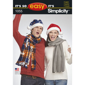 It's So Easy Pattern 1055 Hat and Scarf