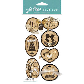 Wooden Silhouette Wedding Icons_50-50924