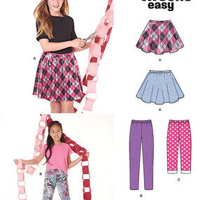 Girls' Pants in Two Lengths and Skirt
