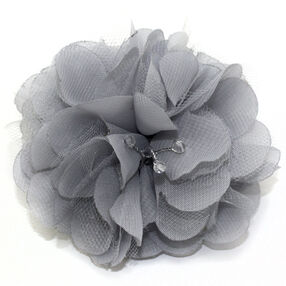 Gray Side Spring Pin & Clip Flower_56-63065