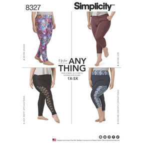 Simplicity Pattern 8327 Women's Knit Leggings with Length Variations