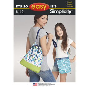 Simplicity Pattern 8119 It's So Easy Cross-Body Bags