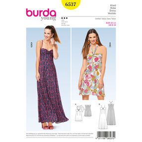 Burda Style Pattern B6537 Misses' Halter Neck Dress