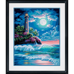 Lighthouse in Moonlight, Paint by Number_73-91424