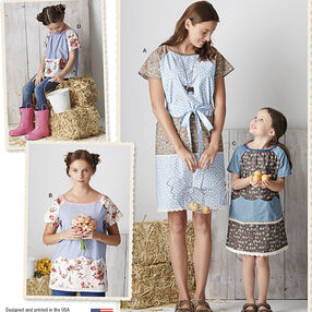 Pattern 8087 Child's and Misses' Pullover Dress and Top