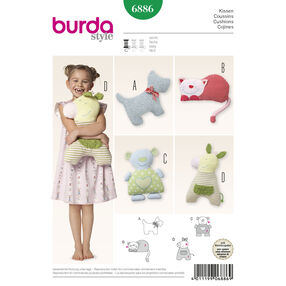 Burda Style Pattern 6886 Creative, Doll Clothes, Accessories