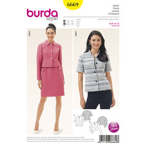 Burda Style Pattern 6669 Misses' Jacket