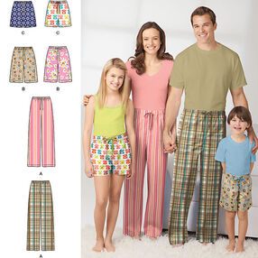 Child's, Teens' and Adults' Pants and Shorts