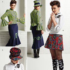Misses' Blouse, Hat and Knit Skirts