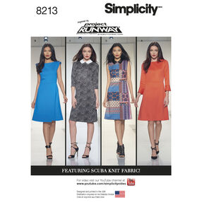 Simplicity Pattern 8213 Misses' Inspired by Project Runway Dresses
