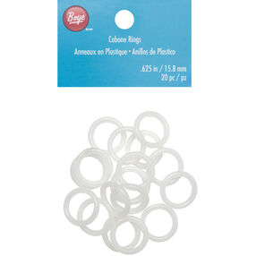 .625 Inch White Cabone Rings 20 Count