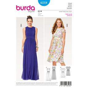 Burda Style Pattern B6518 Misses' Two Layered Dress