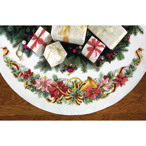 Holiday Harmony Tree Skirt, Counted Cross Stitch_70-08939