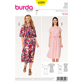 Burda Style Pattern B6509 Misses' Elastic Waist Dress
