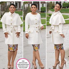 Misses' & Plus Size Coat by Mimi G Style