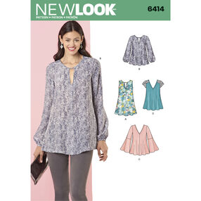 Misses' Tunic and Top with Neckline Variations
