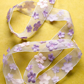 """1"""" Ribbon with Flowers Band"""