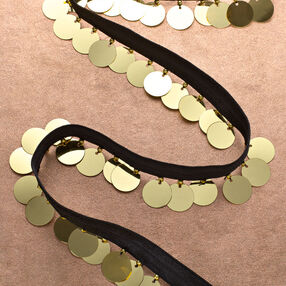 """1-1/4"""" Stretch Band with Paillettes"""