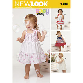 New Look Pattern 6353 Babies' Dresses and Panties