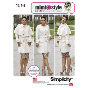 Simplicity Pattern 1016 Misses' & Plus Size Coat by Mimi G Style