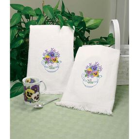 Teapot Floral Guest Towels, Embroidery_73220