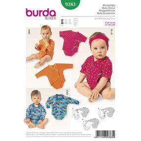Burda Style Pattern 9383 Babies Wrap Dress and  Blouse