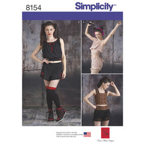 Simplicity Pattern 8154 Misses' Alternative Fashion Sportswear Pieces