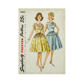 Simplicity Vintage Dresses Pattern Iron-On Transfer